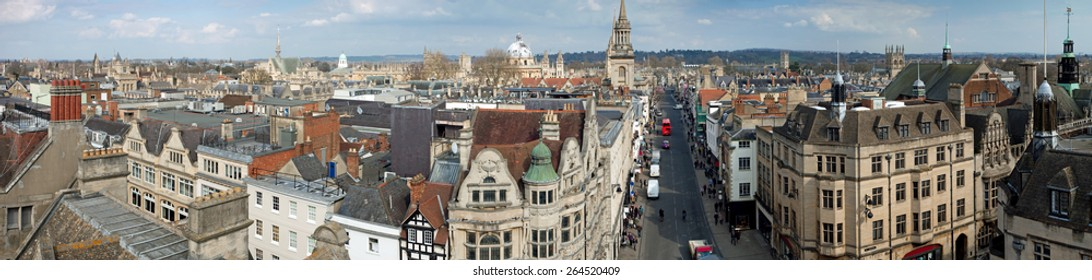 Panoramic view of Oxford, England, UK