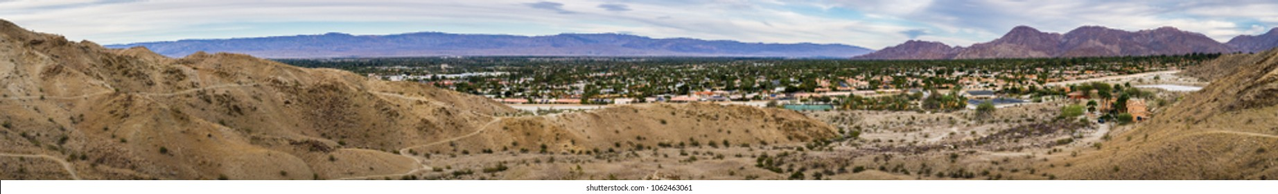 Panoramic view of Palm Desert, Coachella Valley, California