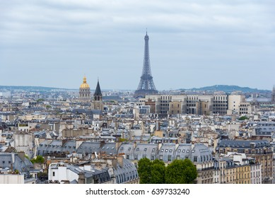 Panoramic view of Paris with Eiffel tower