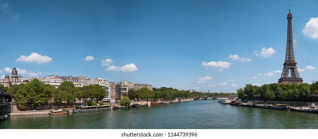 panoramic view at Paris form the Bir-Hakeim bridge