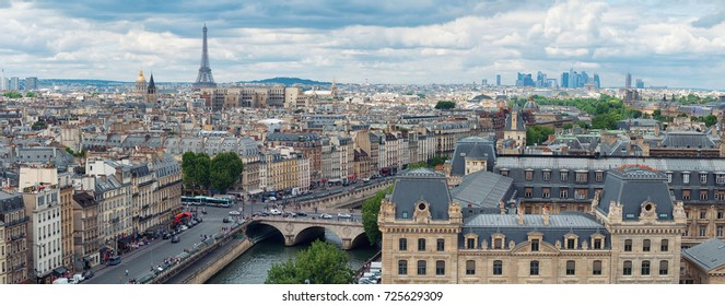 panoramic view of Paris as seen from Notre Dame
