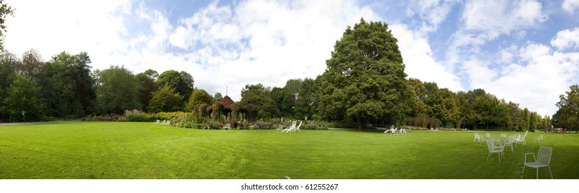 Panoramic view of a park
