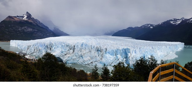 Panoramic view of the Perito Moreno glacier, Sta. Cruz Province, Argentina