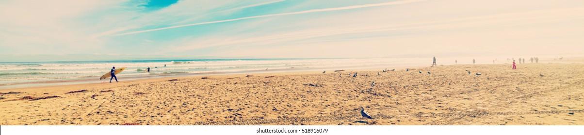 panoramic view of Pismo Beach, California
