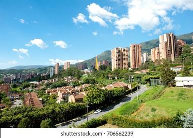 Panoramic View Poblado, Medellin, Colombia