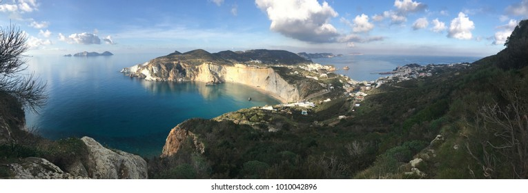 Panoramic view from Ponza island