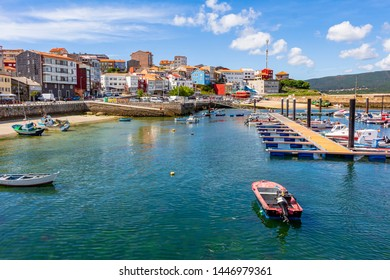 Panoramic view of the port of the town of Finisterre, Galicia, Spain