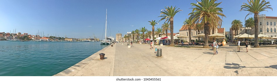 Panoramic view of port of Trogir