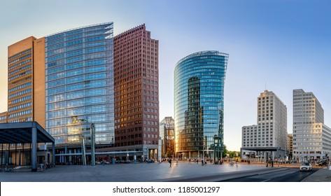 panoramic view at the potsdamer platz, berlin - Shutterstock ID 1185001297