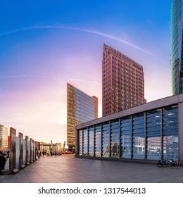 panoramic view at the potsdamer platz in berlin