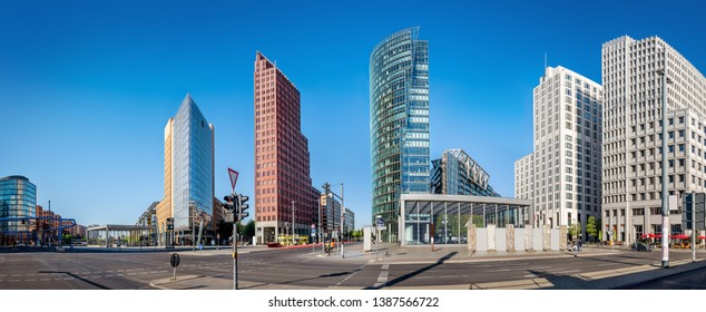 panoramic view at the potsdamer platz, berlin - Shutterstock ID 1387566722