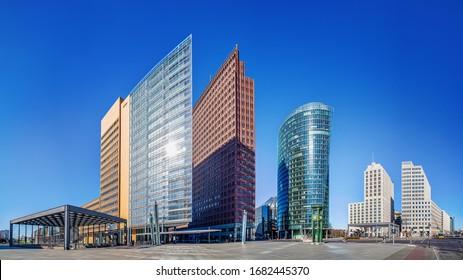 panoramic view at the potsdamer platz, berlin - Shutterstock ID 1682445370