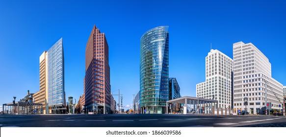 panoramic view at the potsdamer platz, berlin - Shutterstock ID 1866039586