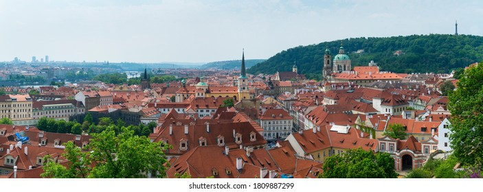 Panoramic view of Prague city in the Czech Republic, Europe