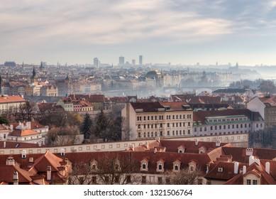 Panoramic view of Prague, Czechia