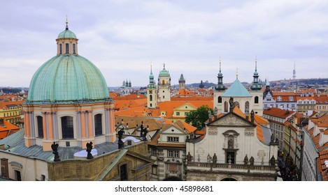 Panoramic View of Prague Old Town and Klementinum