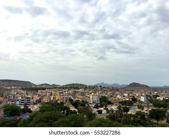Panoramic view of Praia city in Santiago - Capital of Cape Verde Islands - Cabo Verde, Africa