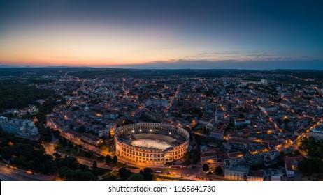 Panoramic view of Pula, Croatia