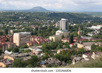 Panoramic view of Pyatigorsk from Mashuk Mountain in a summer day. Pyatigorsk is a resort town in Stavropolsky Krai, Russia