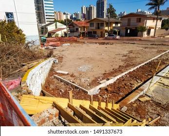 Panoramic view of renovation in municipal public hospital in the city of Passo Fundo, Rio Grande do Sul, Brazil, 2019.