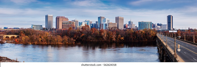 Panoramic view of Richmond. Richmond, Virginia, USA.
