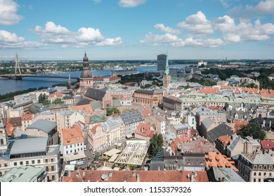 Panoramic view of Riga Latvia From Above