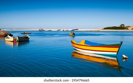 Panoramic view of Rio da Madre in the fishing village, Praia do Guarda do Embaú, State of Santa Catarina, Brazil