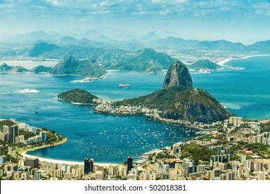 Panoramic view of Rio De Janeiro and Sugar Loaf, Brazil