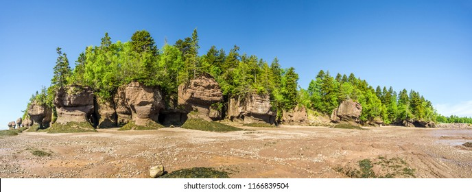 Panoramic view at the rock formations of Bay of Fundy - Canada