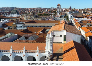Panoramic view from the rooftop of San Felipe de Neri Monastery, Sucre, Bolivia