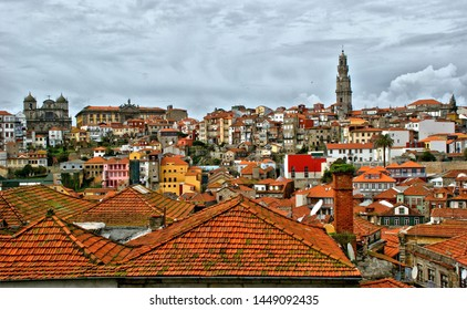 Panoramic view of the rooftops of Porto, Portugal