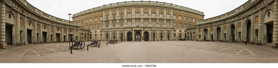 Panoramic view of the Royal Palace in Stockholm