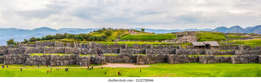 A panoramic view of Sacsayhuaman in Cusco - Peru