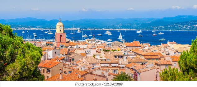 Panoramic view of Saint Tropez, France