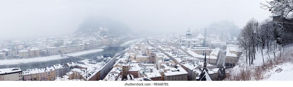 Panoramic view of Salzburg. Austria.