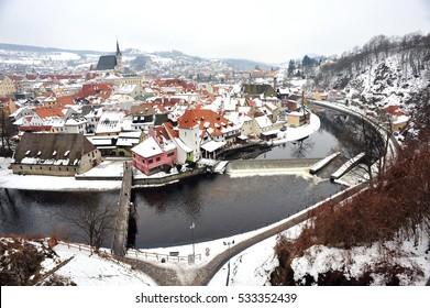 Panoramic view of Salzburg with Festung Hohensalzburg and river Salzach in winter, Salzburger Land, Austria