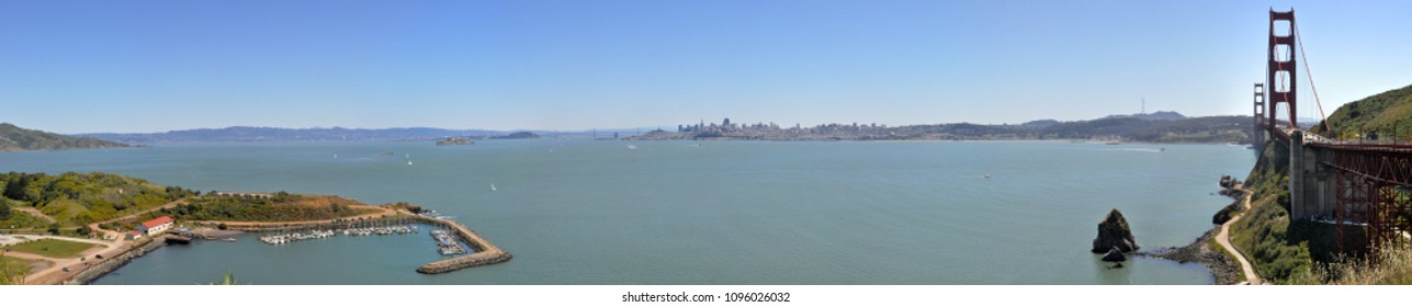 Panoramic View of San Francisco Bay since Vista Point