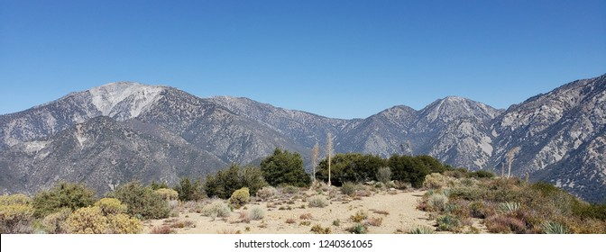 Panoramic view of the San Gabriel Mountains