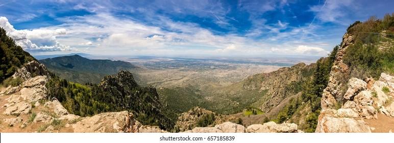 Panoramic view from Sandia Peak, Albuquerque New Mexico.