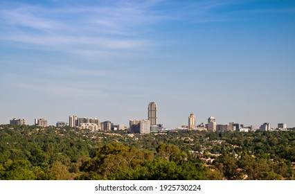 Panoramic view of the Sandton central business district