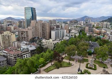 Panoramic view of Santiago de Chile, Cityscape, Chile, Latin America