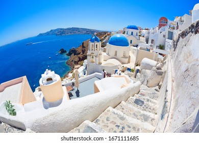 Panoramic view of  Santorini, Cyclades Island, Greece