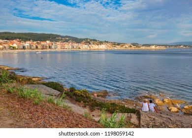 Panoramic view of Sanxenxo touristic city from Vicano point