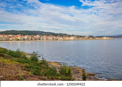 Panoramic view of Sanxenxo touristic village