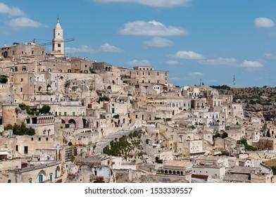 Panoramic view of Sassi Caveoso , Sassi di Matera