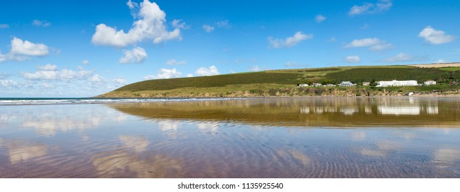 Panoramic View of Saunton Sands in North Devon, UK