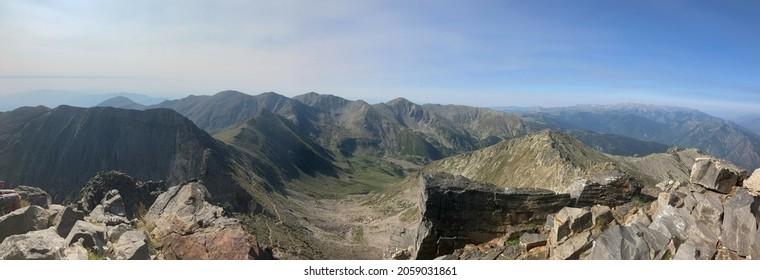 Panoramic view seen from peak Canigou