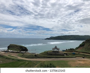 Panoramic view of Seger Beach in Lombok West Nusa Tenggara Indonesia