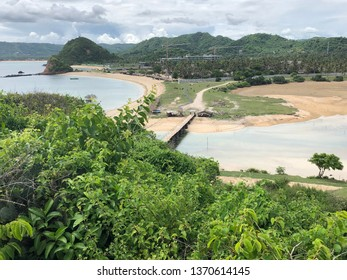 Panoramic view of Seger Beach Lombok, West Nusa Tenggara Indonesia