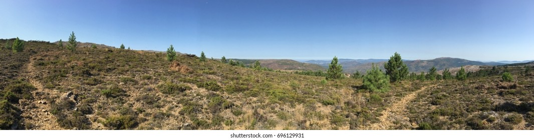 A panoramic view of Serra d'Arga mountains in North of Portugal